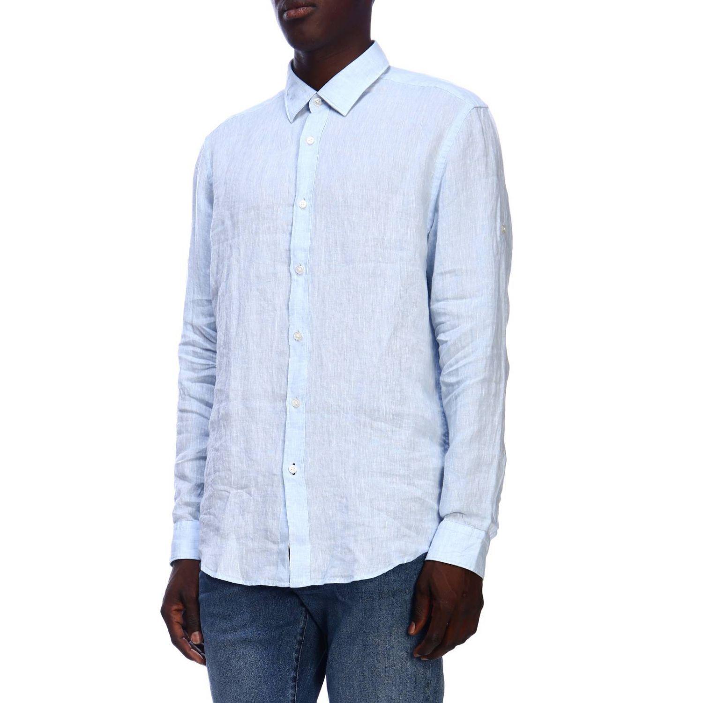 Рубашка Мужское Hugo Boss небесно-голубой 2