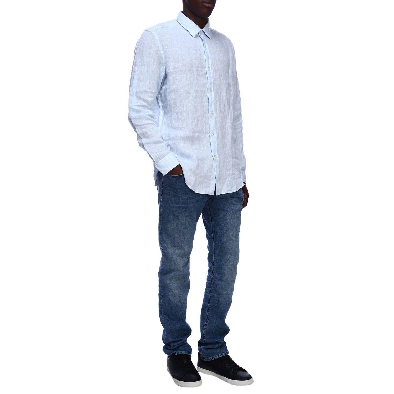 Рубашка Мужское Hugo Boss небесно-голубой 5