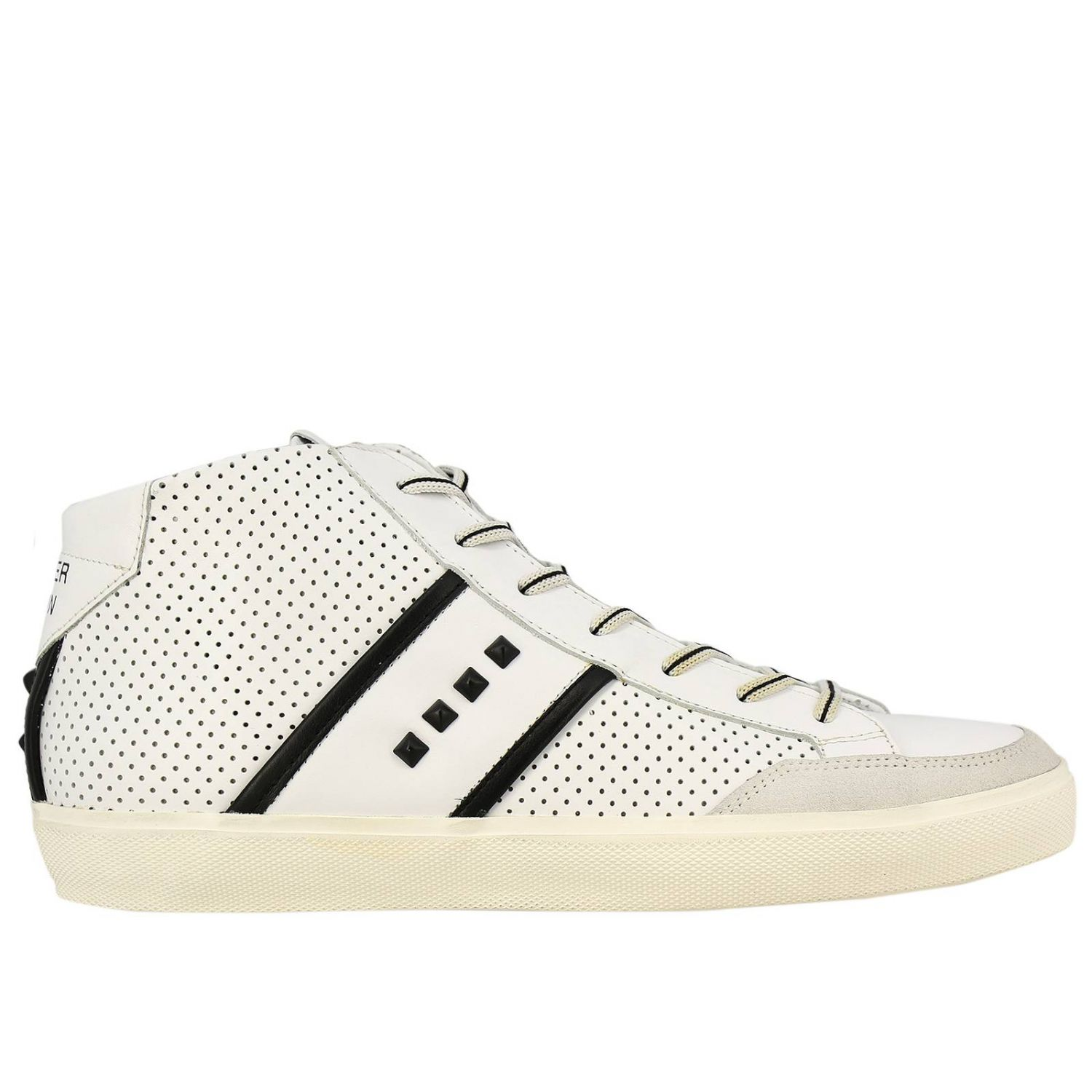 Shoes men Leather Crown white 1
