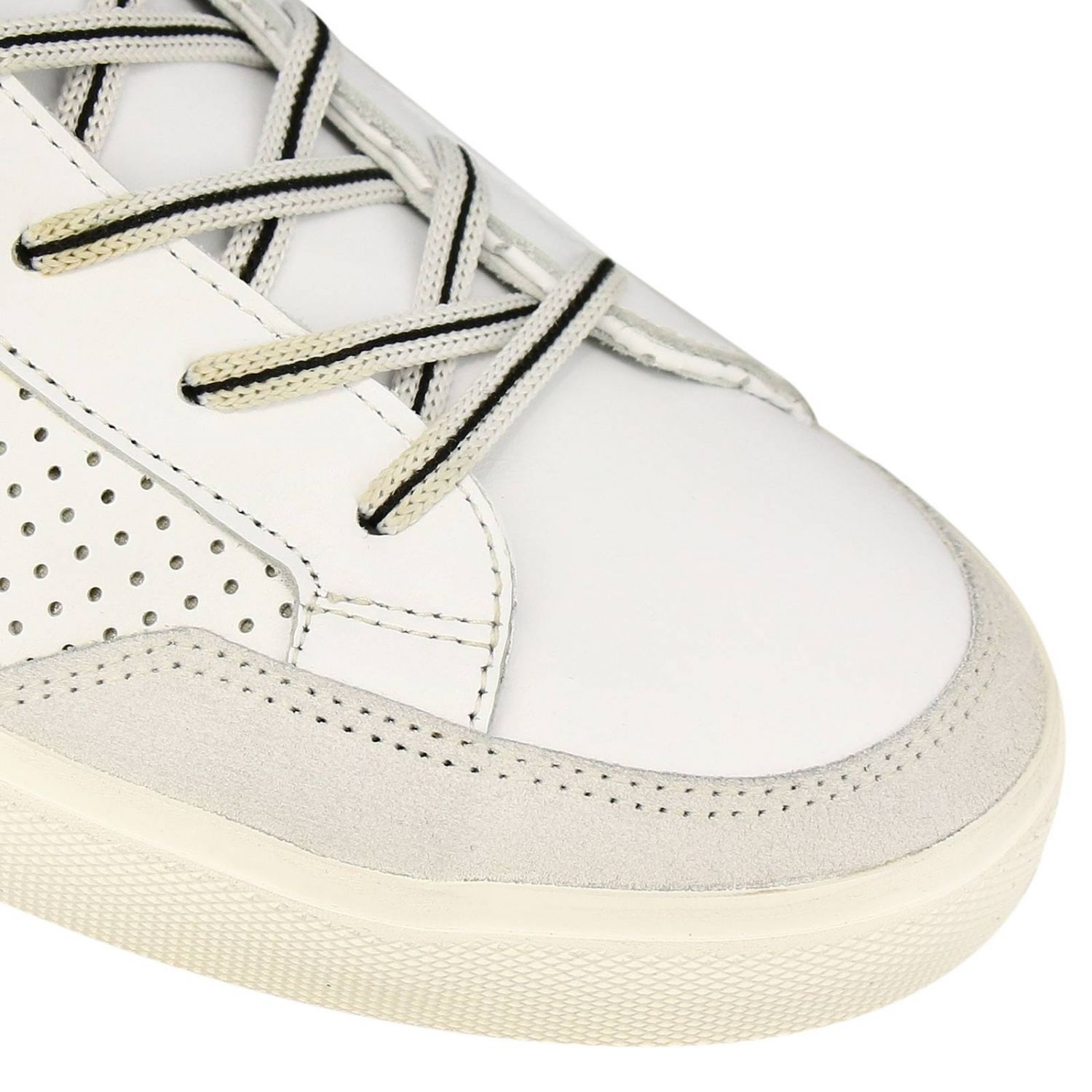 Shoes men Leather Crown white 3