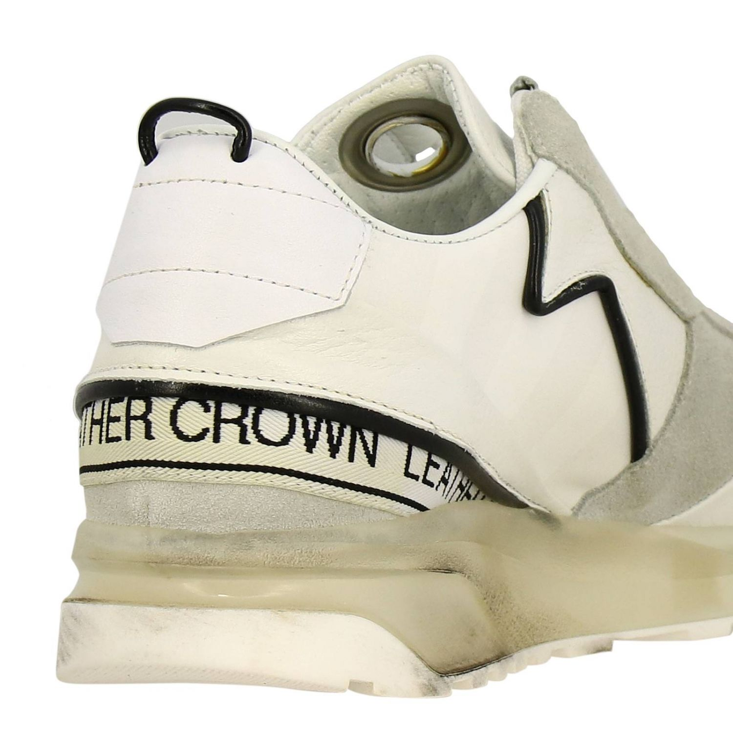Shoes men Leather Crown white 4