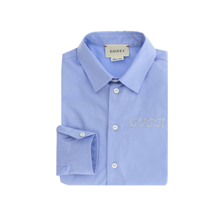 Camicia bambino Gucci celeste 1