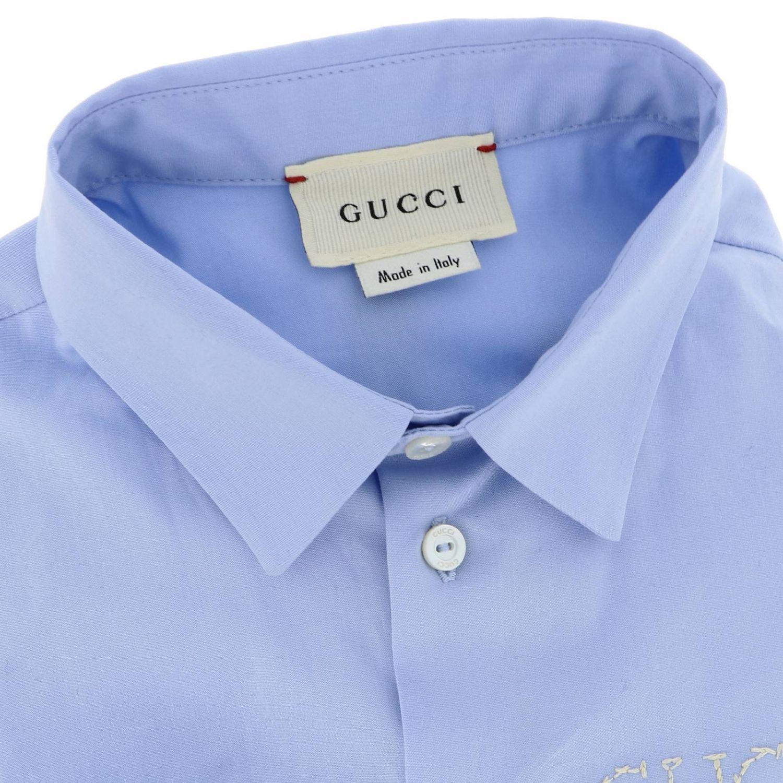 Camicia bambino Gucci celeste 2