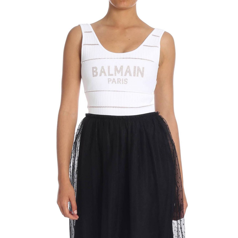 Боди Balmain: Боди Женское Balmain белый 1