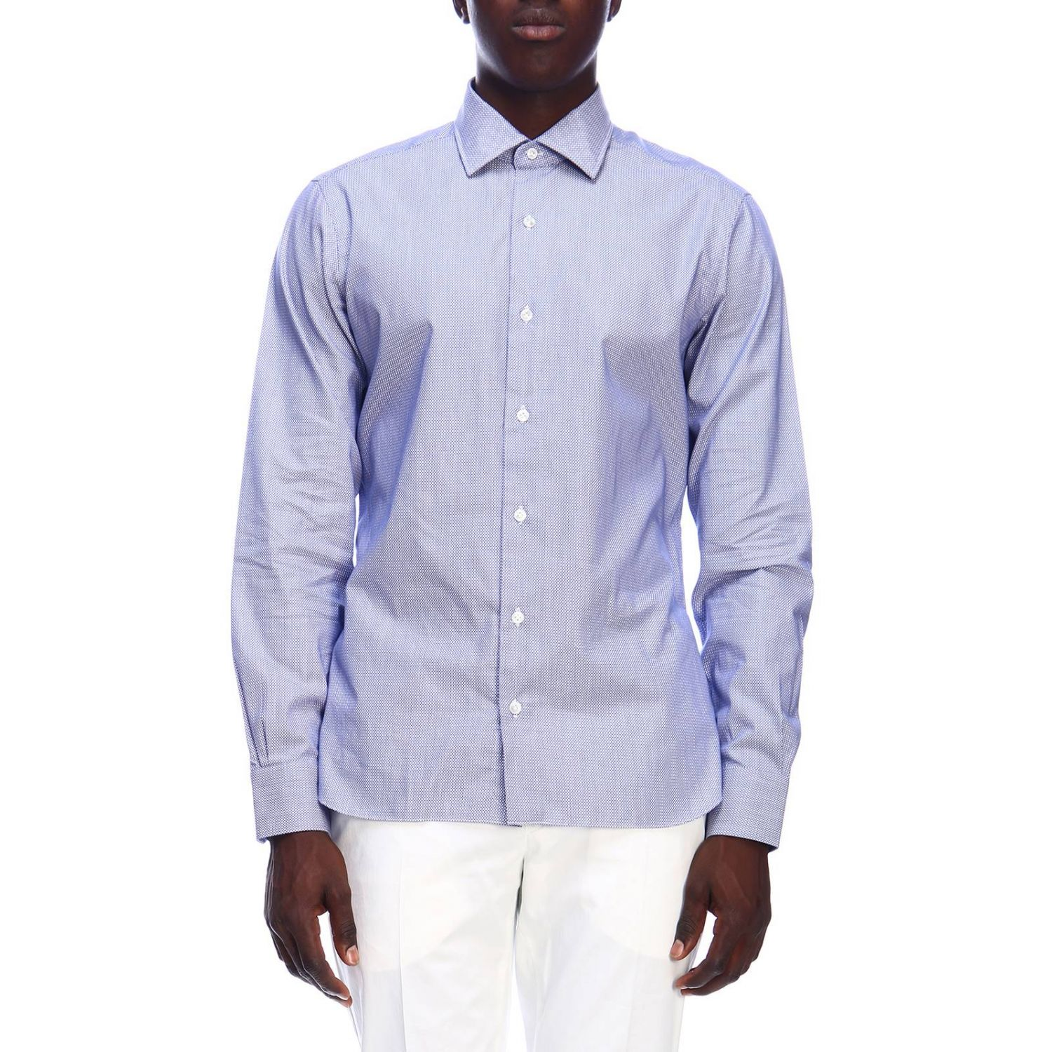 Shirt men Barba Culto gnawed blue 1