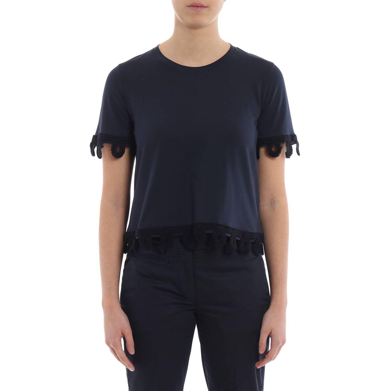 T-shirt donna Dondup blue 1