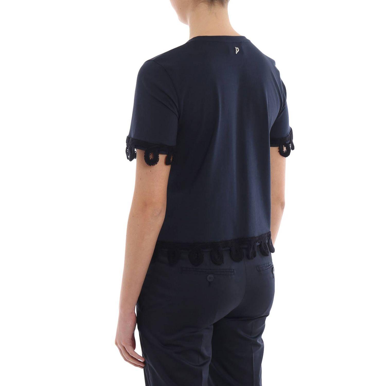 T-shirt donna Dondup blue 2