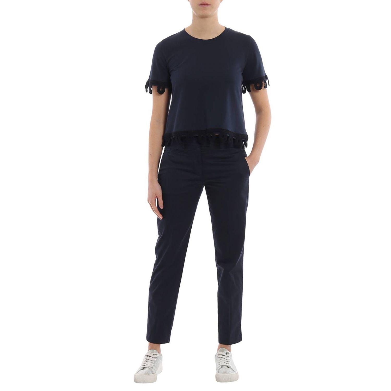 T-shirt donna Dondup blue 4