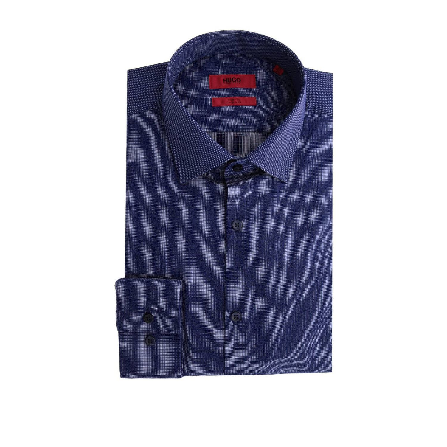 Camicia uomo Hugo Boss blue 1