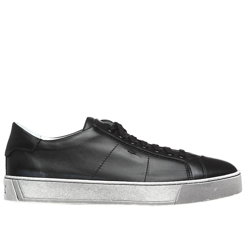 Sneakers uomo Santoni Club nero 1