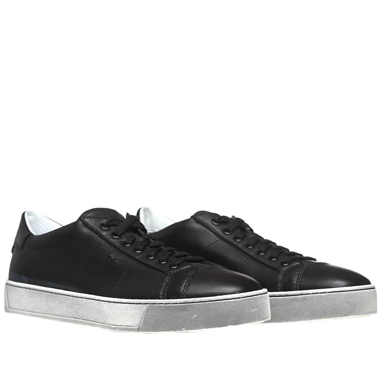 Sneakers uomo Santoni Club nero 2
