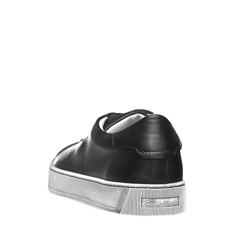 Sneakers uomo Santoni Club nero 3