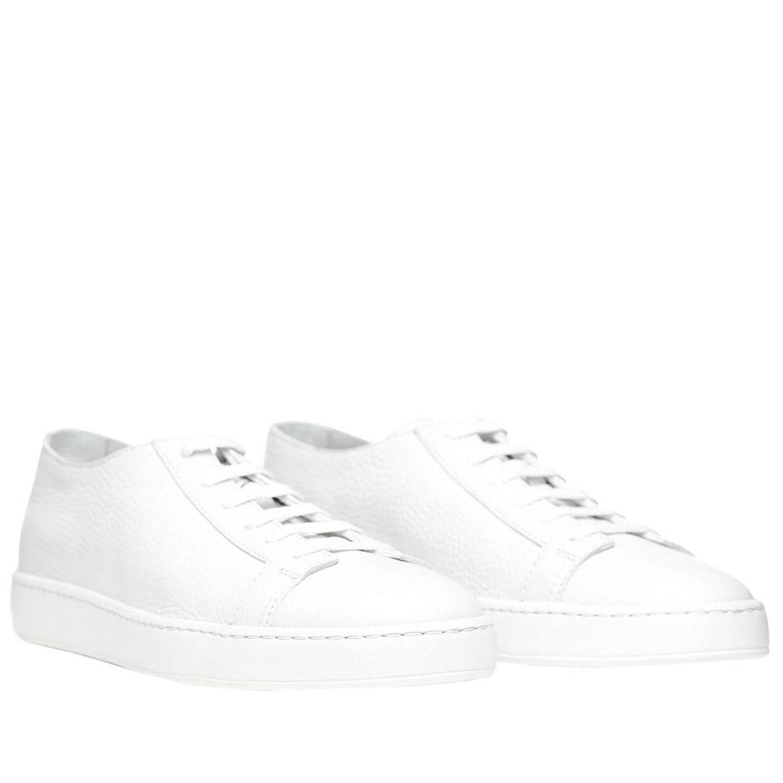 Sneakers uomo Santoni Club bianco 2