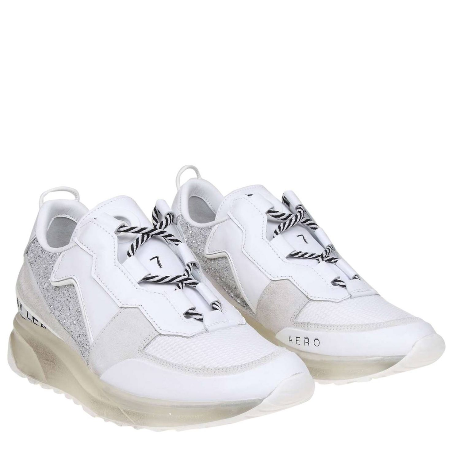 Sneakers women Leather Crown white 2