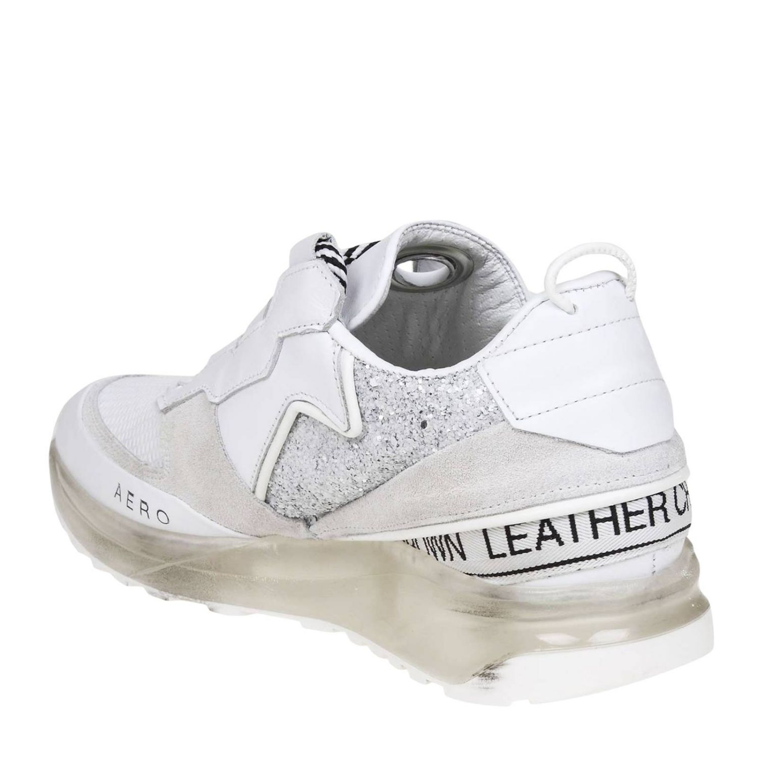 Sneakers women Leather Crown white 4