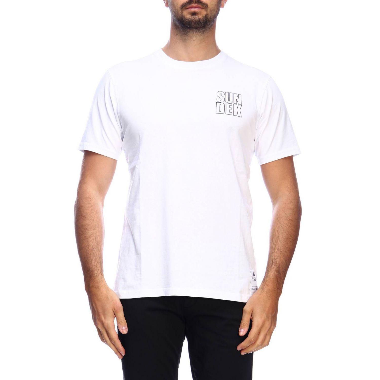 T-shirt men Sundek white 1