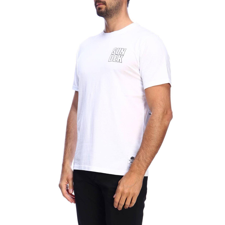 T-shirt men Sundek white 2