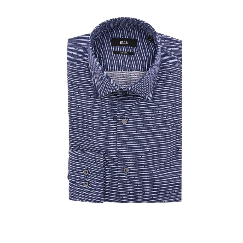 Shirt men Hugo Boss navy 1