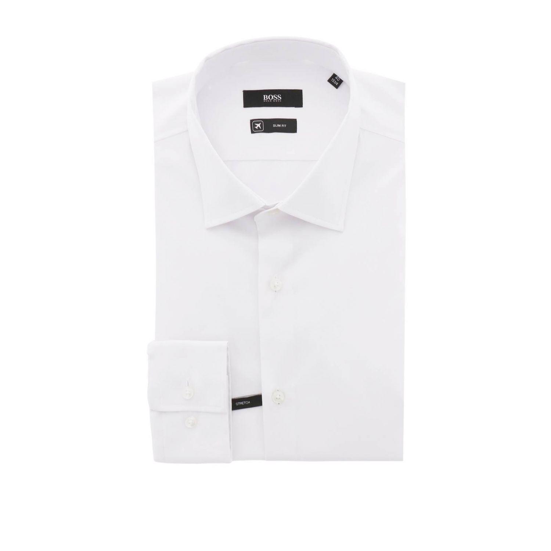 衬衫 Hugo Boss: 衬衫 男士 Hugo Boss 白色 1