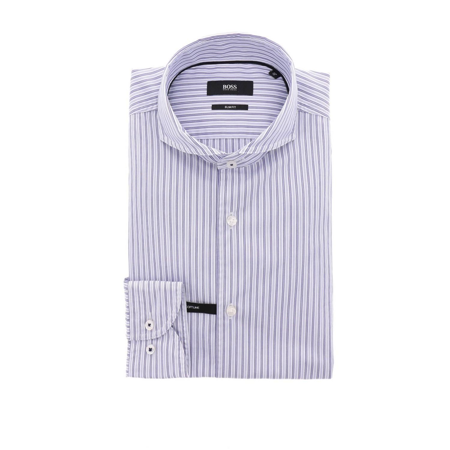 Shirt men Hugo Boss blue 1