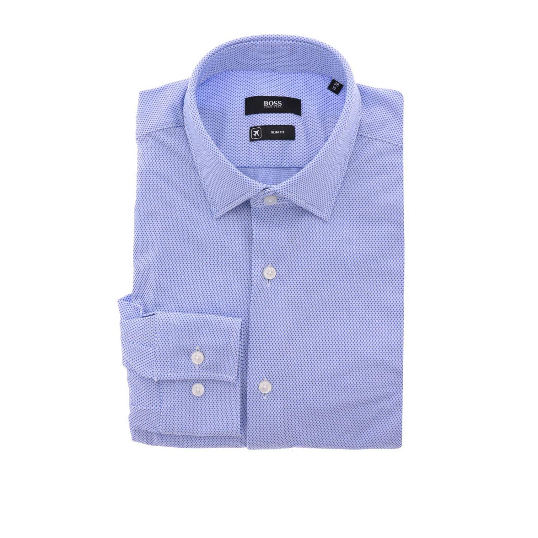 Camicia uomo Hugo Boss blue 1