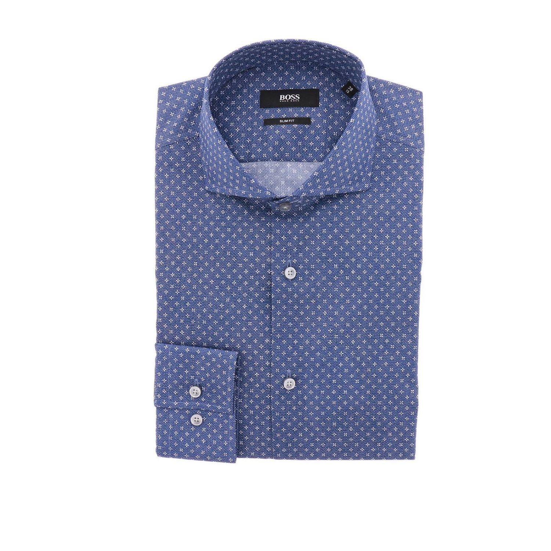 Shirt men Hugo Boss blue 1