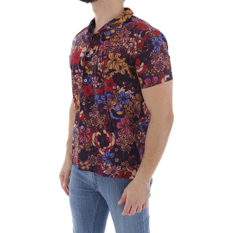 Camicia uomo Daniele Alessandrini viola 2