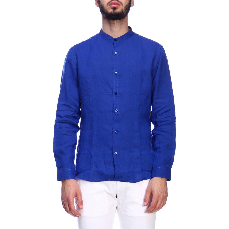 Camisa hombre Daniele Alessandrini azul claro 1