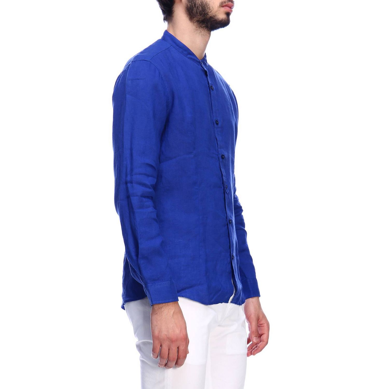 Camisa hombre Daniele Alessandrini azul claro 2