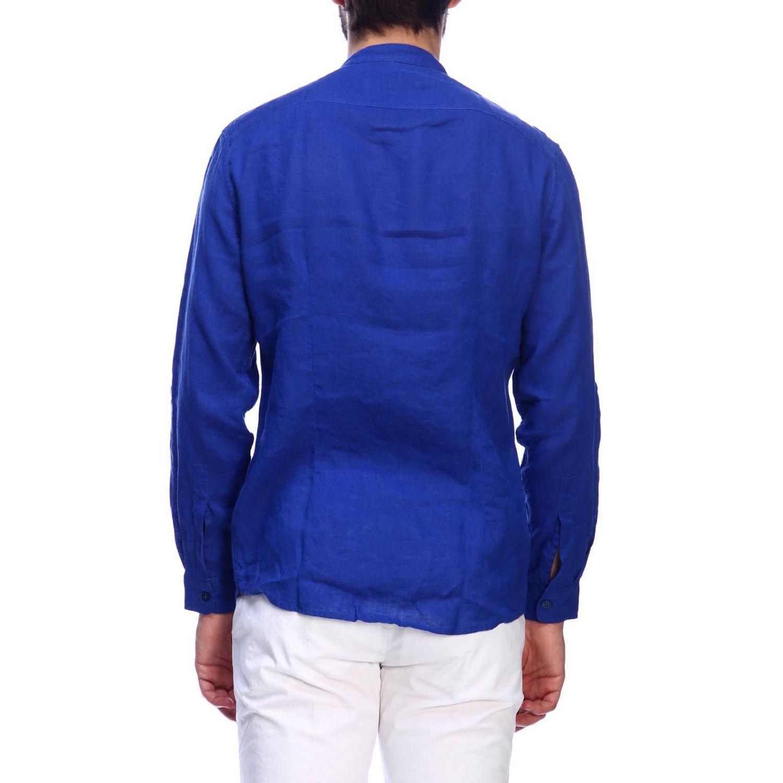 Camisa hombre Daniele Alessandrini azul claro 3
