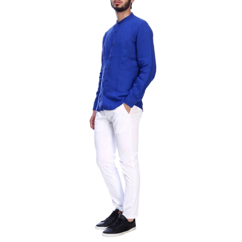 Camisa hombre Daniele Alessandrini azul claro 5