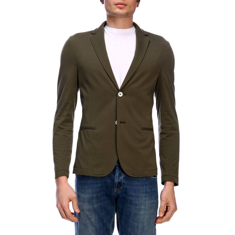 Blazer Daniele Alessandrini: Jacket men Daniele Alessandrini green 1