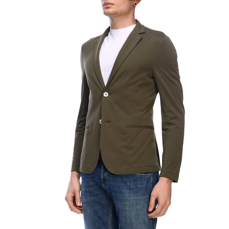 Blazer Daniele Alessandrini: Jacket men Daniele Alessandrini green 2