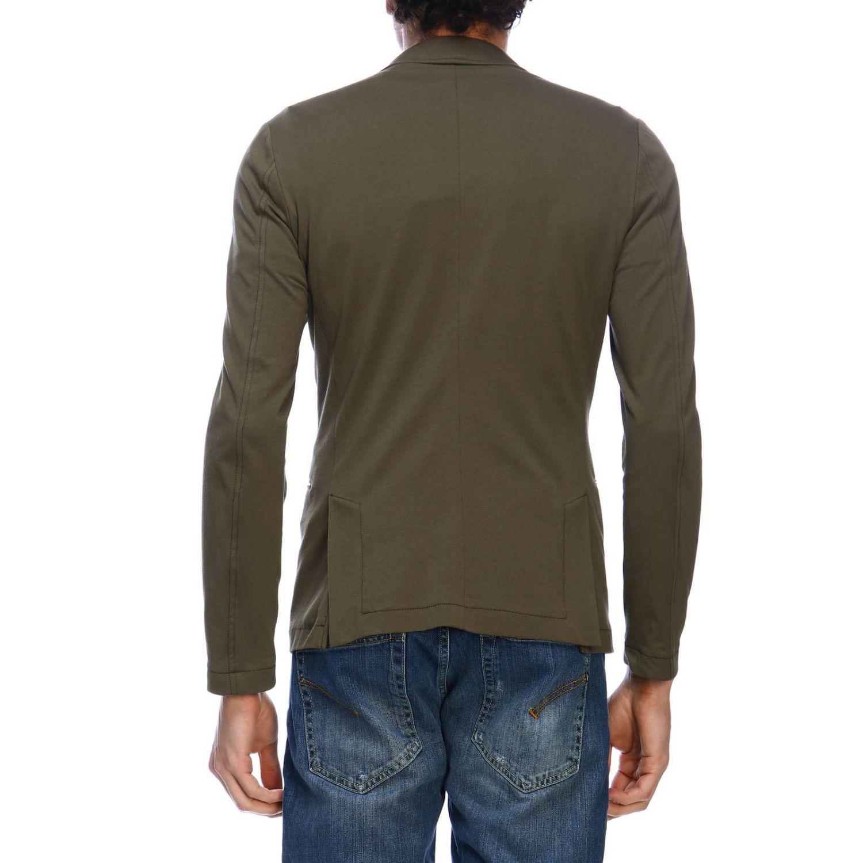 Blazer Daniele Alessandrini: Jacket men Daniele Alessandrini green 3