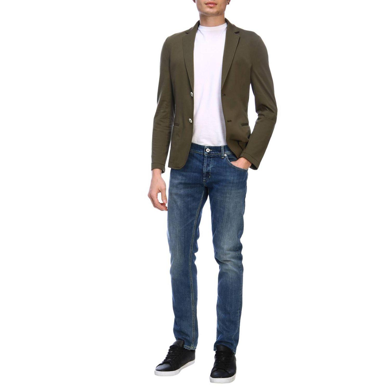 Blazer Daniele Alessandrini: Jacket men Daniele Alessandrini green 4