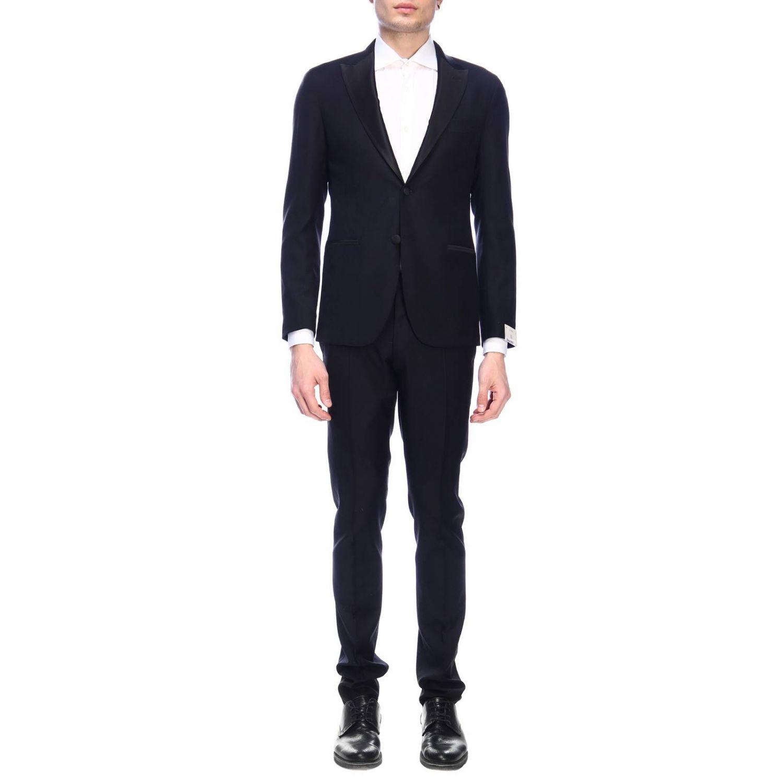 Suit Eleventy: Suit men Eleventy black 1