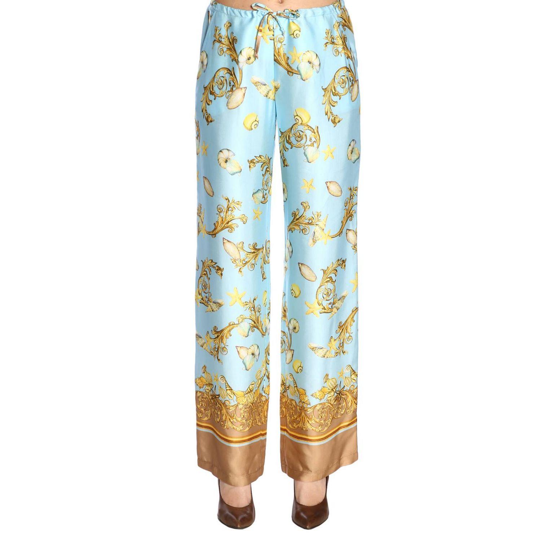 Trousers women La Vie En Rose gnawed blue 1