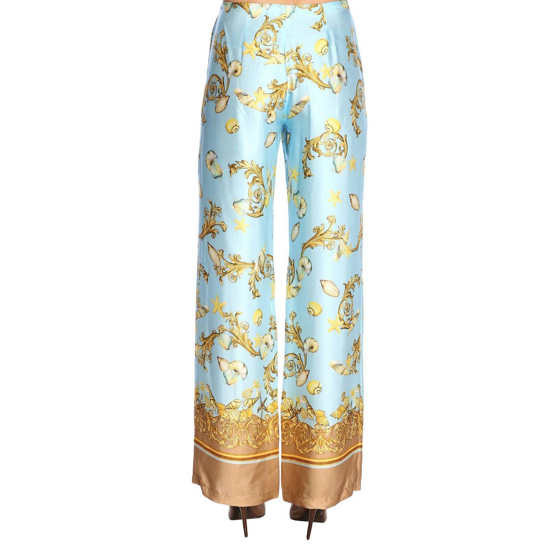 Trousers women La Vie En Rose gnawed blue 3