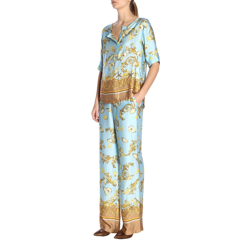 Trousers women La Vie En Rose gnawed blue 4