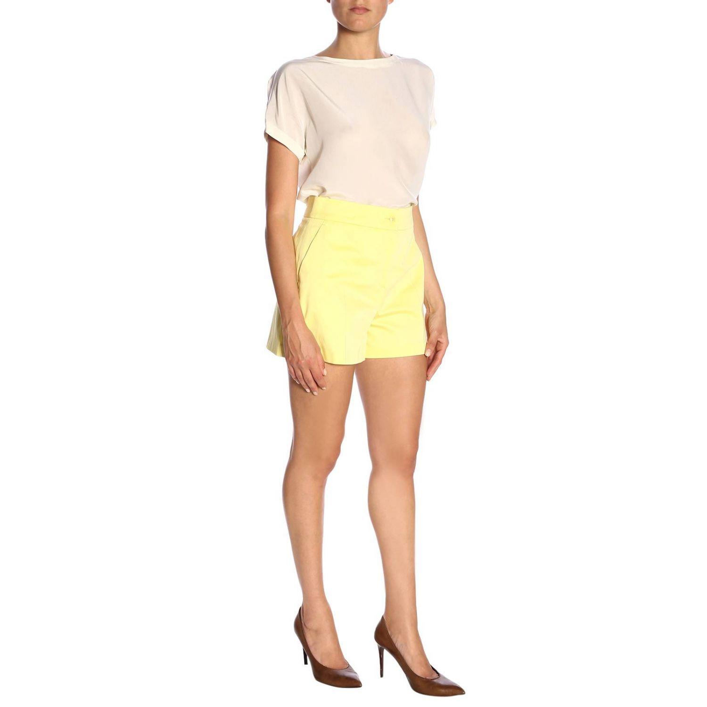 Pantaloncino donna Boutique Moschino giallo 4