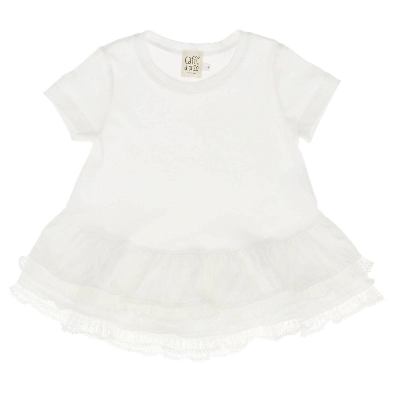 T-shirt Caffe' D'orzo: T-shirt kids Caffe' D'orzo white 1