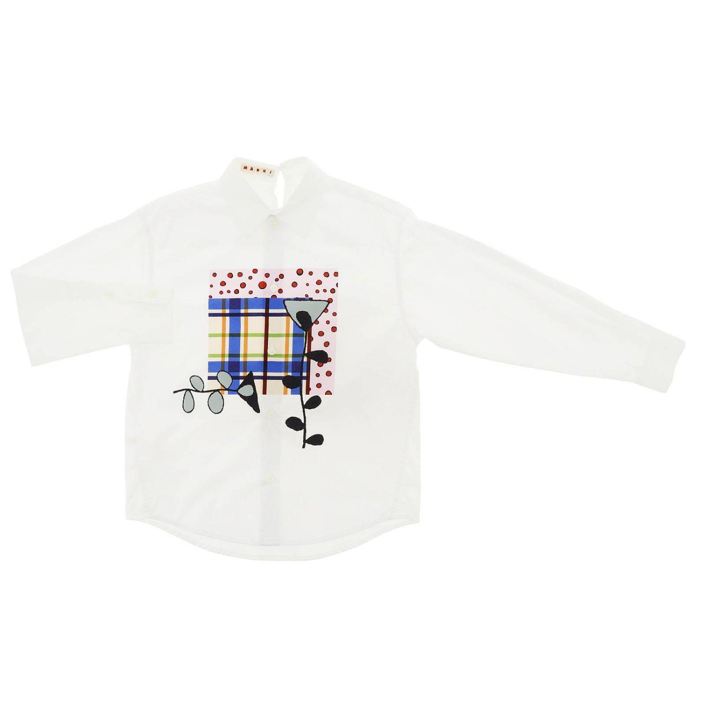 Camicia bambino Marni bianco 1