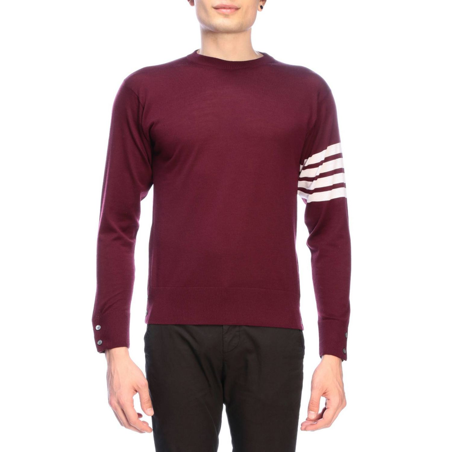Pull homme Thom Browne bordeaux 1
