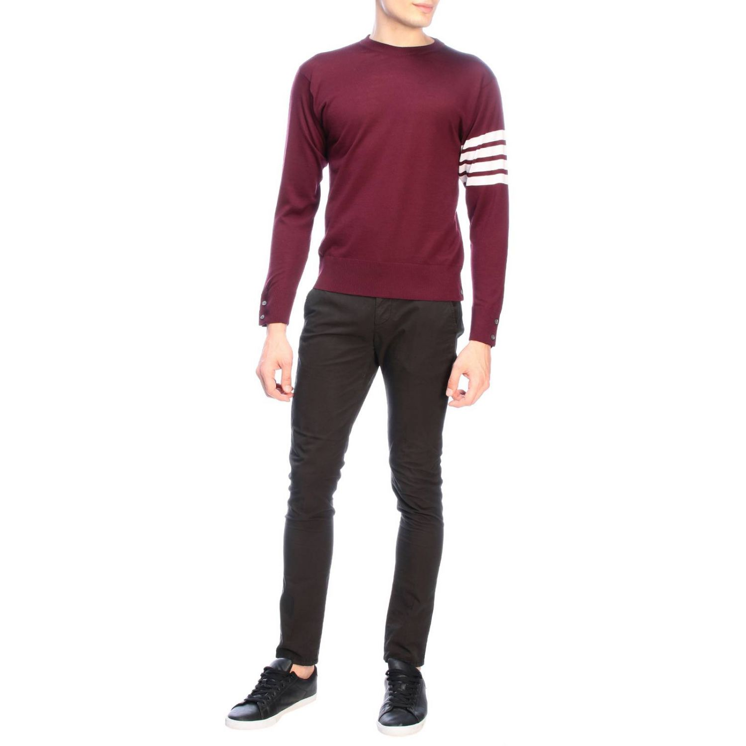 Pull homme Thom Browne bordeaux 2