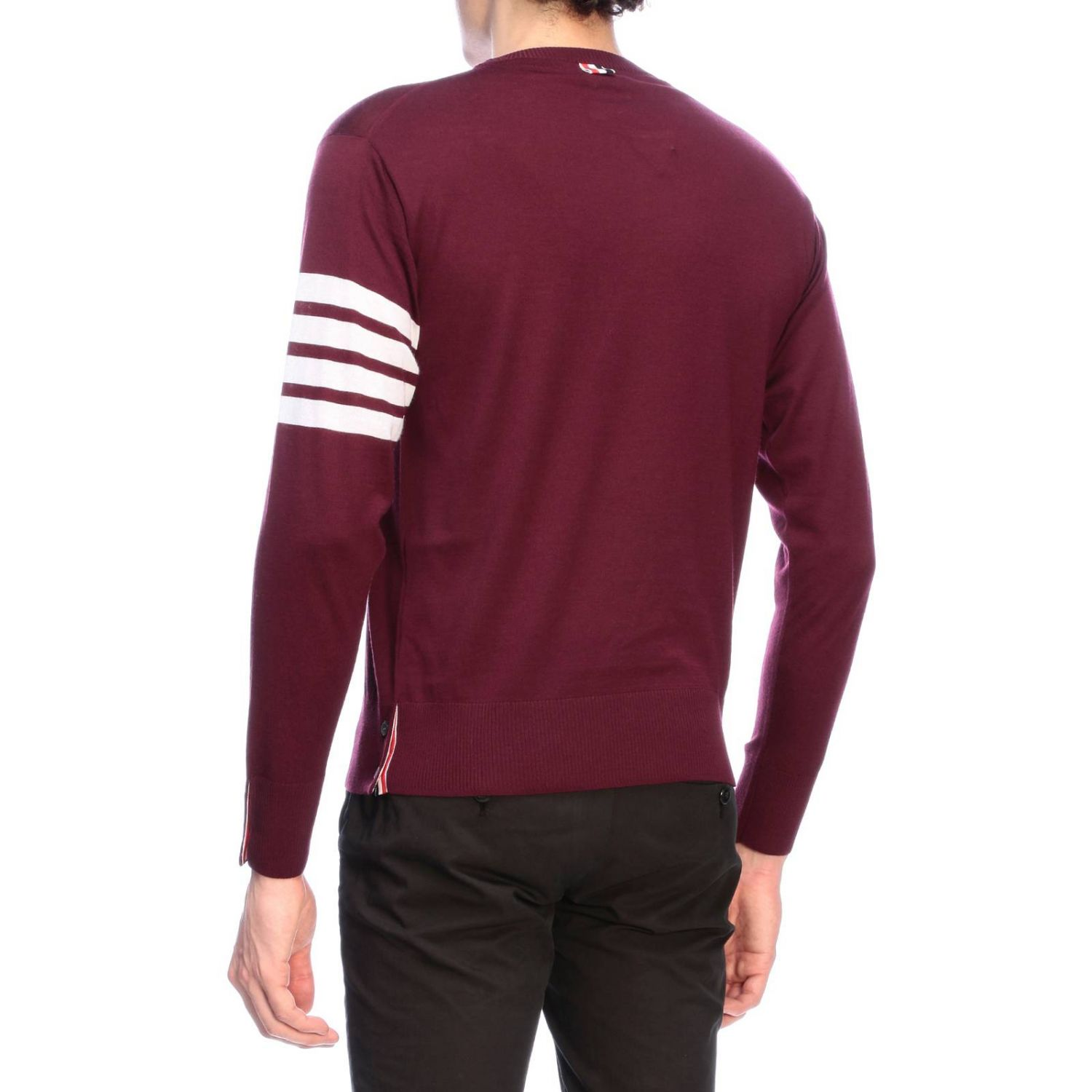 Pull homme Thom Browne bordeaux 3