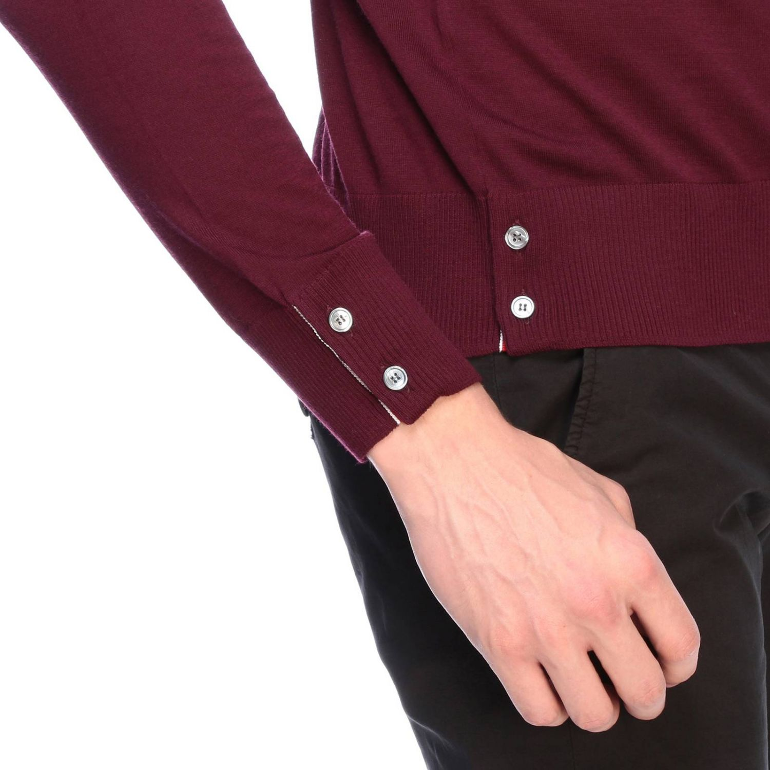 Pull homme Thom Browne bordeaux 4