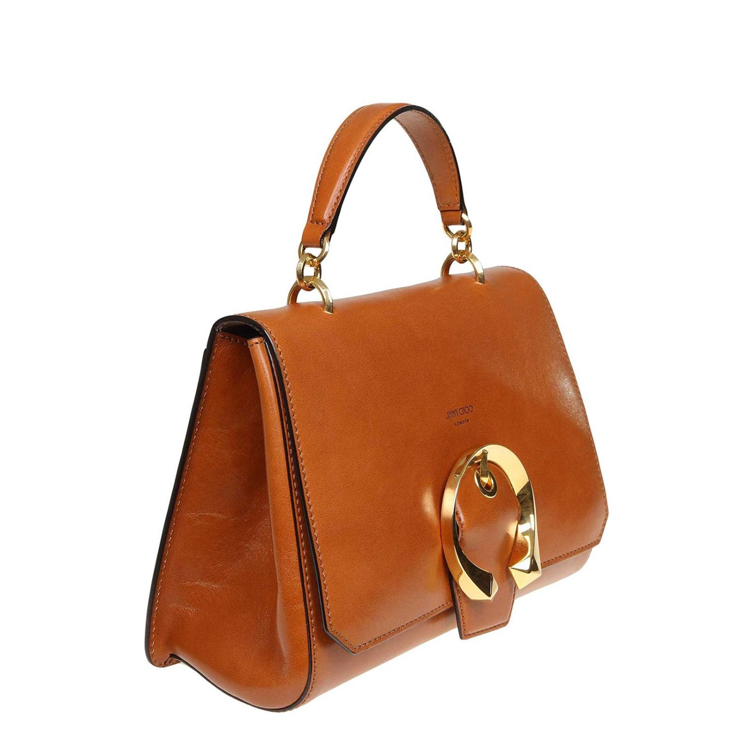 Tote bags Jimmy Choo: Madeline Jimmy Choo handbag in vintage leather with jeweled buckle leather 2