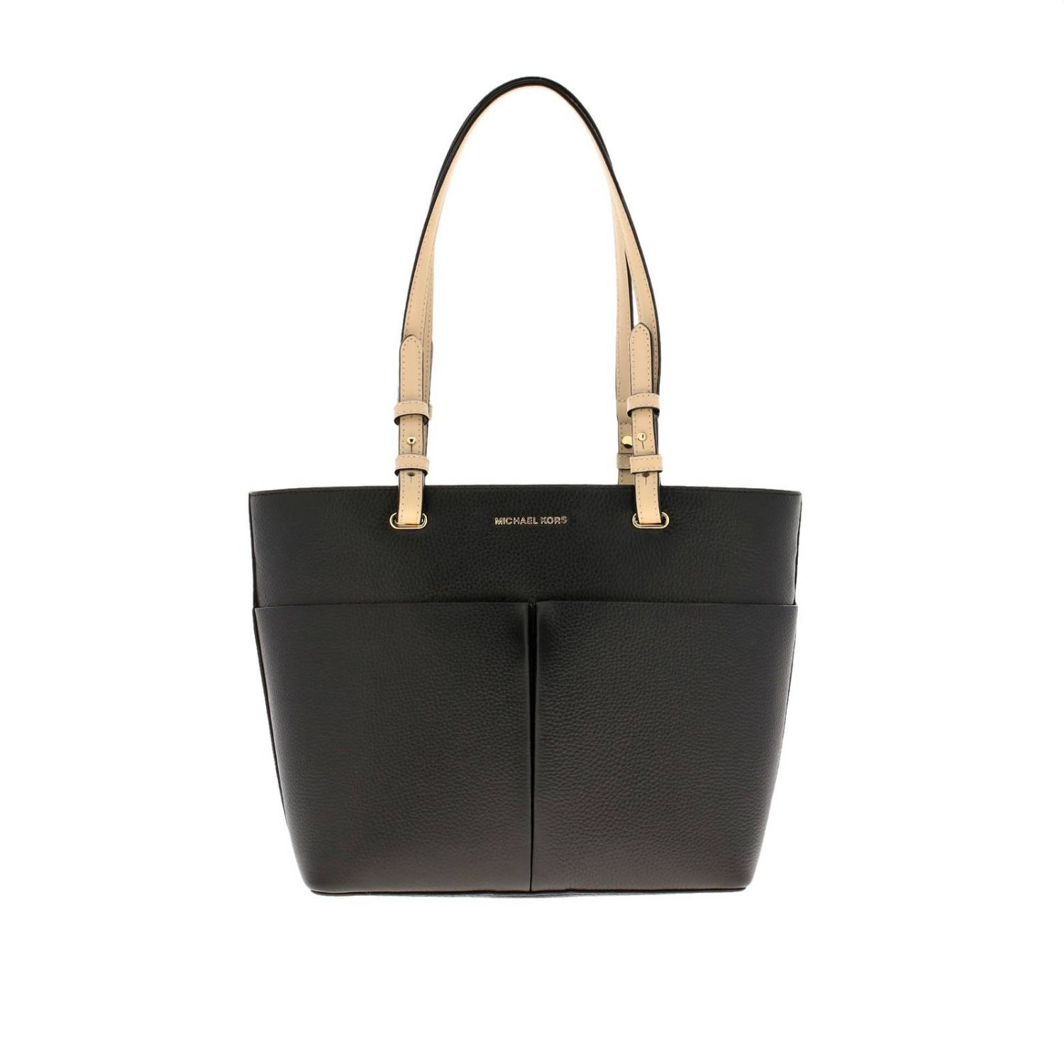 Bedford Michael Michael Kors medium shopping bag in textured leather with logo black 1