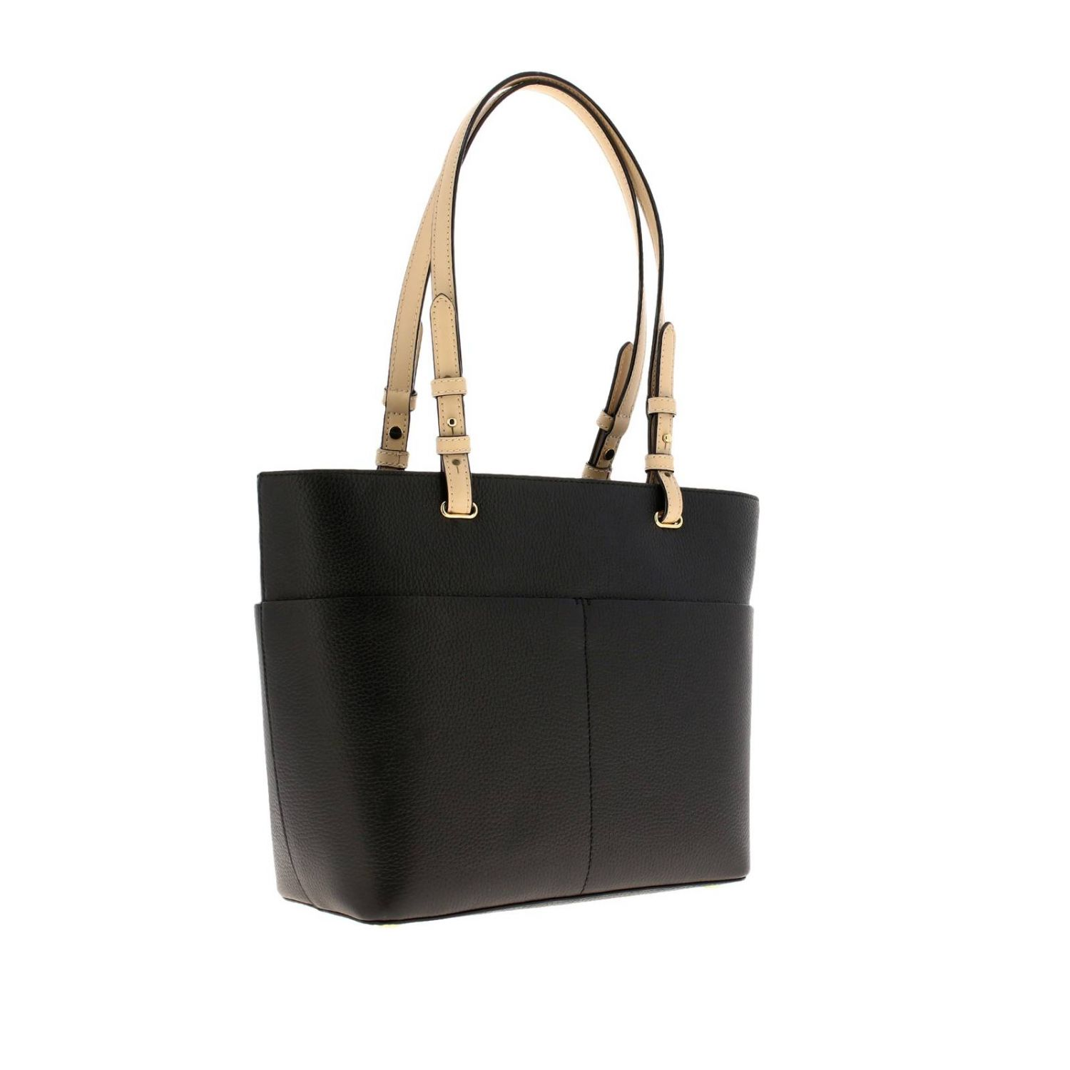 Bedford Michael Michael Kors medium shopping bag in textured leather with logo black 3
