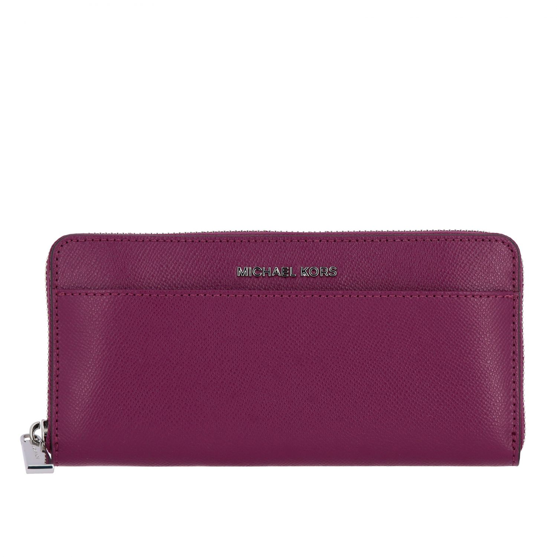 Michael Michael Kors continental leather wallet burgundy 1